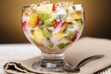 Кулинарный рецепт: Фруктовый салат с йогуртом на ГОТОВИМ СМАЧНО