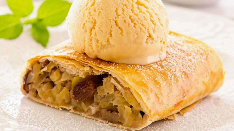 Кулинарный рецепт: Яблочный штрудель на ГОТОВИМ СМАЧНО