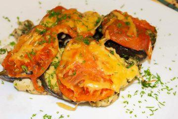 Кулинарный рецепт: Курица с баклажанами и помидорами в духовке на ГОТОВИМ СМАЧНО
