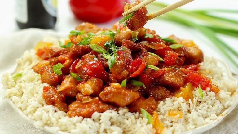 Сладкая курица по-китайски