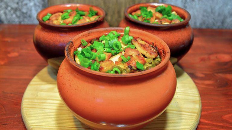 Кулинарный рецепт: Курица с картошкой в горшочке на ГОТОВИМ СМАЧНО