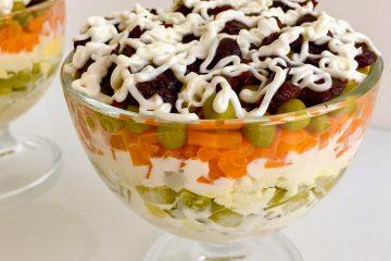 Кулинарный рецепт: Салат «Прага» на ГОТОВИМ СМАЧНО