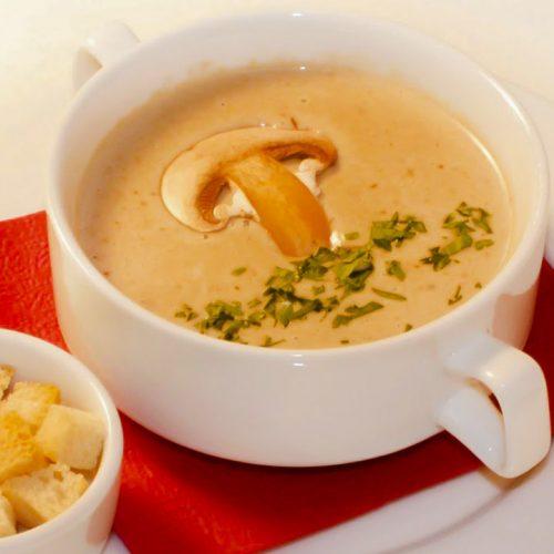 Кулинарный рецепт: Картофельный суп-пюре с грибами на ГОТОВИМ СМАЧНО