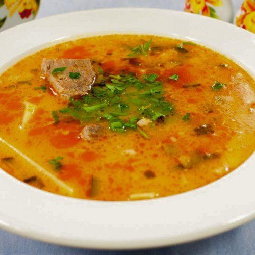 Кулинарный рецепт: Рассольник с мясом и перловкой на ГОТОВИМ СМАЧНО