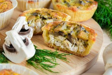 Кулинарный рецепт: Пирог «Киш лорен» с курицей и грибами на ГОТОВИМ СМАЧНО