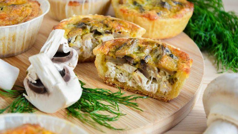 Пирог «Киш лорен» с курицей и грибами