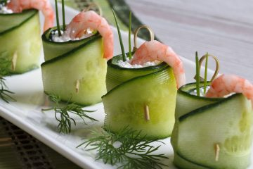Кулинарный рецепт закуски Огуречные роллы с креветками на ГОТОВИМ СМАЧНО