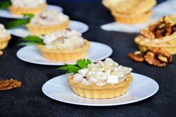 Кулинарный рецепт закуски Тарталетки с ананасами на ГОТОВИМ СМАЧНО