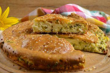 Кулинарный рецепт: Заливной пирог на кефире с зеленым луком и яйцом на ГОТОВИМ СМАЧНО