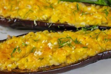Кулинарный рецепт: Запеченные баклажаны с сыром и яйцом на ГОТОВИМ СМАЧНО