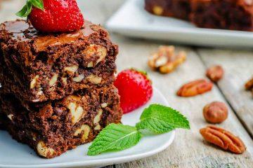 Кулинарный рецепт: Шоколадный «Брауни» с грецкими орехами (Chocolate brownie) на ГОТОВИМ СМАЧНО