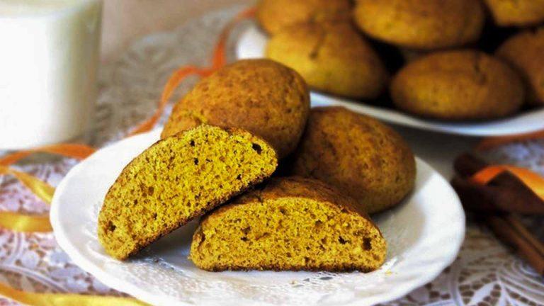 Печенье из тыквы с кокосовой стружкой