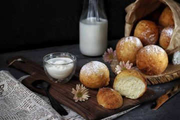 Кулинарный рецепт: Творожные пончики (шарики), жареные в масле ~ ГОТОВИМ СМАЧНО