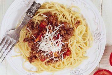 Кулинарный рецепт: Спагетти с фаршем и овощами ~ ГОТОВИМ СМАЧНО
