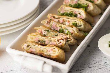 Кулинарный рецепт: Пирожки из лаваша с ветчиной и сыром ~ ГОТОВИМ СМАЧНО
