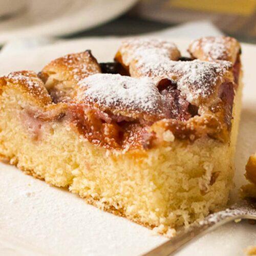 Кулинарный рецепт: Сдобный сливовый пирог ~ ГОТОВИМ СМАЧНО